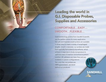 Leading the world in G.I. Disposable Probes ... - Sandhill Scientific