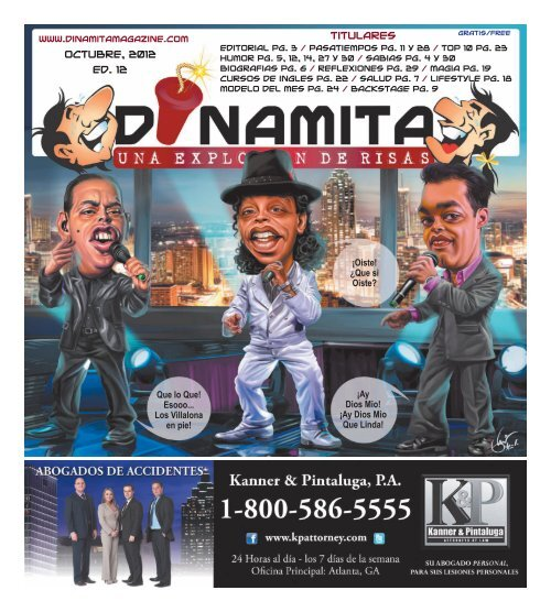Octubre, 2012 Ed. 12 Titulares - Dinamita Magazine