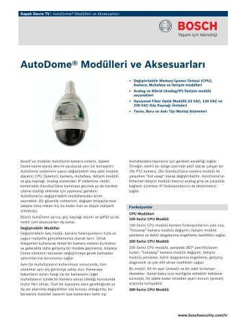 AutoDome® Modülleri ve Aksesuarları - Bosch Security Systems