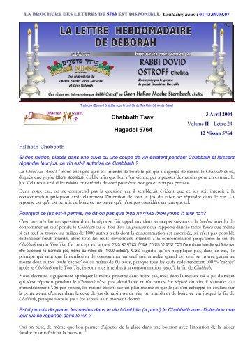 Volume II - lettre n°24 - Association Deborah Guitel