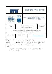 Subject of the test: Jocker door hinges (120 kg). Client ... - Bopal.eu