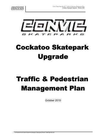 Cockatoo Skatepark Upgrade Traffic & Pedestrian Management Plan