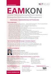Informationsplattform Enterprise Architecture Management - eamkon