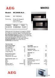 Modell: MC2660E-M,A - Tretti.se