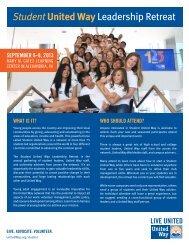 Student United Way Leadership Retreat