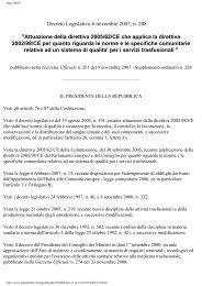 Decreto Legislativo 6 novembre 2007, n. 208 ... - Avis Ragusa