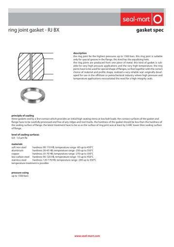 gasket spec ring joint gasket - RJ BX - seal-mart