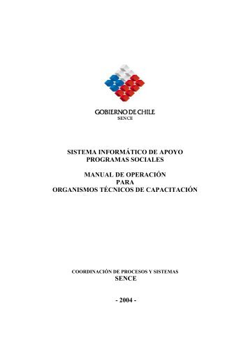 sistema informático de apoyo programas sociales manual de ...