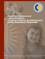 Cognitive Behavioural Approaches to Treating Children and ...