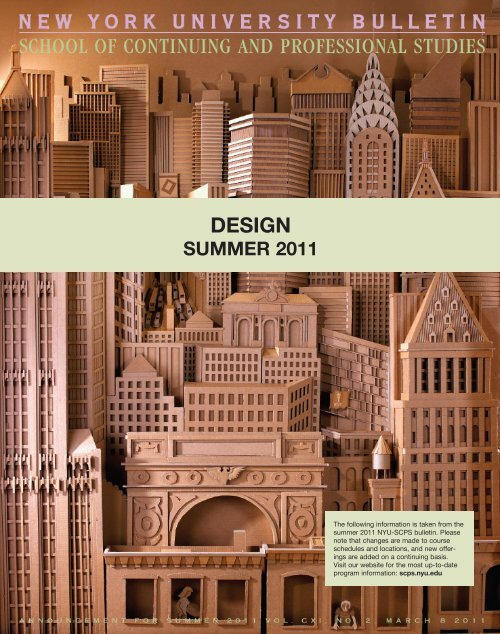 design - School of Continuing and Professional Studies - New York ...