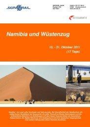 Namibia und Wüstenzug - SERVRail