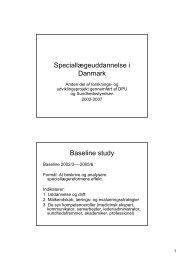 Speciallægeuddannelsen i Danmark - Institutleder til klinisk medicin