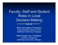 Academic Senates - Community College League of California