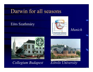 Darwin for all seasons