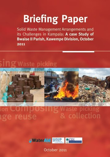 Solid waste management arrangements and its ... - WaterAid