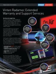Vinten Radamec Extended Warranty and Support Services
