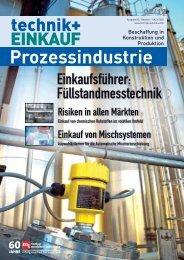 Ausgabe 2 / 2012 Sonderheft Prozessindustrie - technik + EINKAUF