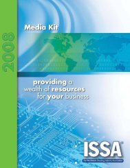 providing a wealth of resources for your business Media Kit - ISSA.com