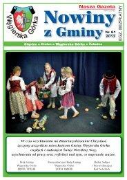 nowiny z gminy 1_2013.pdf - Gmina Węgierska Górka
