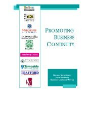 Business Continuity Planning Leaflet - Manchester City Council