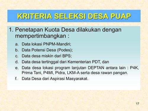 Presentasi tentang KEBIJAKAN TEKNIS PROGRAM ...