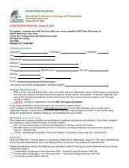 PARTICIPANT REGISTRATION - ICOET