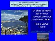 P. Da Col - CARD Confederazione Associazioni Regionali di Distretto