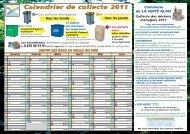 Calendrier de collecte 2011 - Val d'Essonne Environnement