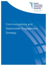 Communications and Stakeholder Engagement Strategy - hiqa.ie