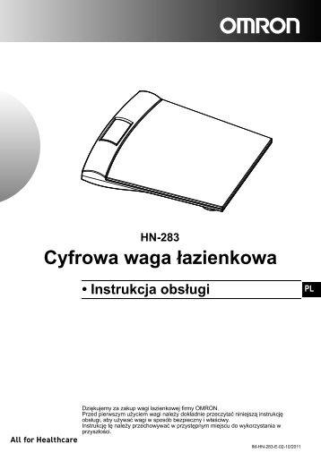 HN-283 Cyfrowa waga łazienkowa - Omron Healthcare