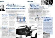 Gefahr von Rauchist vielen Informations- kampagne gestartet - FVLR