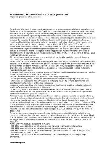 MINISTERO DELL'INTERNO - Circolare n. 24 del 26 ... - Frareg