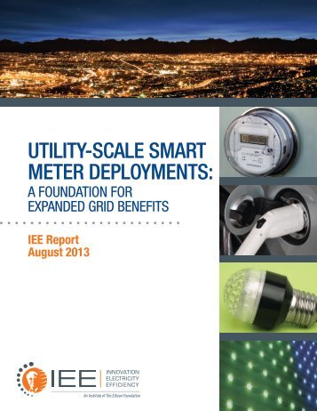 utility-scale smart meter deployments - Institute for Electric Efficiency