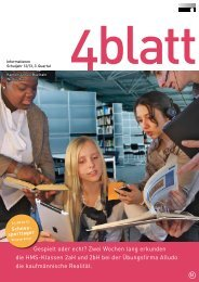 4blatt Nr. 51 - Kantonsschule Büelrain, Winterthur