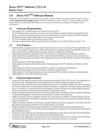 Doors.NET Software Release Notes v3.5.1.14 - Keri Systems  sc 1 st  Yumpu & Doors.NET Software Release Notes v3.5.1.12-SP-2 - Keri Systems