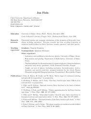 Curriculum Vitae - Department of Physics