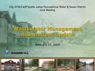 Alternative 3u: Rapid Infiltration - The City of McCall