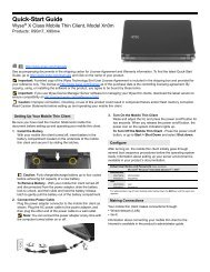 Quick-Start Guide: Wyse® X Class Mobile Thin Client ... - Newegg.com