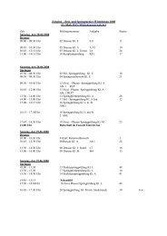 Zeitplan – Reit- und Springturnier Wittichenau 2008 - RSV-Wittichenau