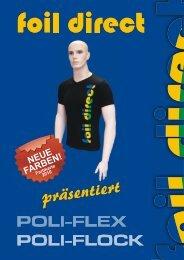Farbkarte POLI-FLEX und POLI-FLOCK - foil direct® Gmbh