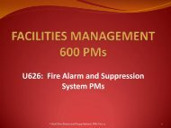 U626 Fire Alarm and Suppression System PMs - Facilities ...
