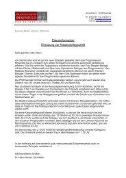 Elterninformation Einladung zur Klassenpflegschaft - Progymnasium ...