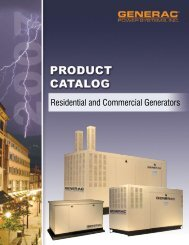 Residential and Commercial Generators - Womack Electric Supply ...