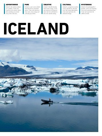 ADVENTUROUS pure CREATIVE CULTURAL ... - Iceland