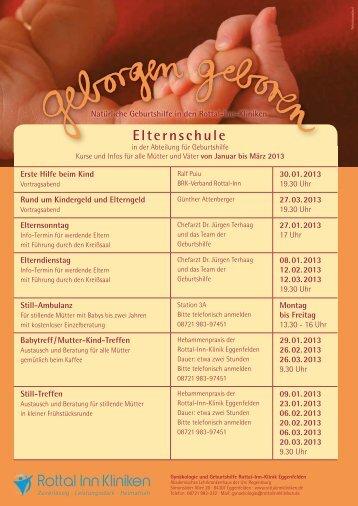 Elternschule - Rottal-Inn-Kliniken - Eggenfelden