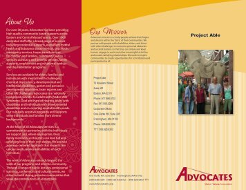 Project Able - Advocates Inc.