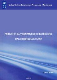 Priručnik za višenamjensko korišćenje malih hidroelektrana