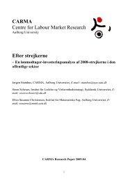 CARMA Centre for Labour Market Research Efter strejkerne