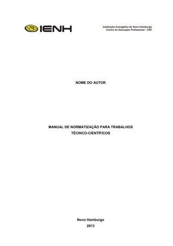 Manual de Normas da ABNT - IENH