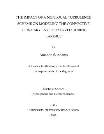 Master of science possible thesis